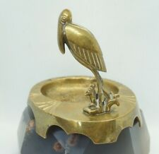 Austrian Art Deco Vienna Bronze Sculpture Figurine Franz Bergmann Toucan Ashtray