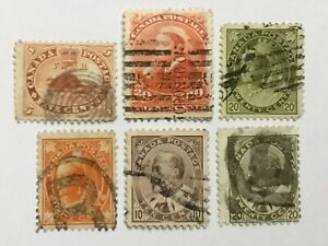 old stamps  CANADA    x   6