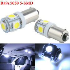 2x HID White T11 BA9S 5050 5-SMD LED Bulbs Car Wedge Interior Map License Light