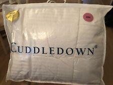 Cuddledown Down Comforter 800 Fill level 1 warmth Damask Stripe King (Msrp~$850)