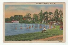 Vintage Used Color Linen Postcard - Lake Whalom, Fitchburg, Mass 1944