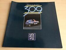 Peugeot 309 Car Brochure 1986