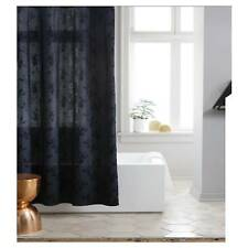 Project 62 Leaf Woven / Blue Floral Shower Curtain Navy