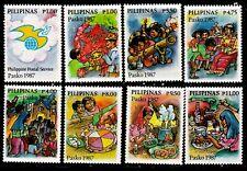 Philippines 1987 Christmas Tradition, Simbang Gabi, Lantern, 8values  mint NH