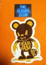 Pearl Jam Sticker 2016 Honey Bear Logo Vinyl Decal Rare Club Mint Art New Vedder