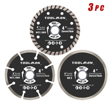 4 in. Masonry Diamond Blade Assorted Set 3 Pc