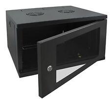 "6U 19"" 450MM Deep Black Wall Mounted Data Cabinet Patch Panel"