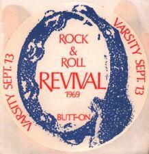 THE DOORS / JOHN LENNON 1969 ROCK & ROLL REVIVAL ORIGINAL BUTT-ON STICKER / PASS