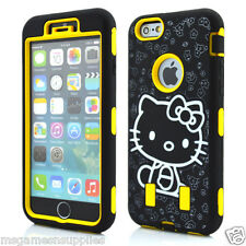 Yellow Hello Kitty DEFENDER Armor Shockproof Hybrid Case for iPhone 6+ 6PLUS 5.5