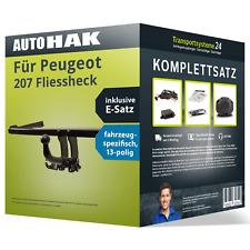 Anhängerkupplung abnehmbar für PEUGEOT 207 Fliessheck +ES Set kpl. NEU inkl. EBA