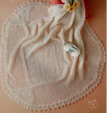 Blackberry Stitch Baby chal ~ 3ply ~ Tejer patrón