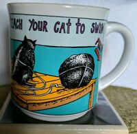 How To Teach Your Cat To Swim Mug By Kevin Pope Recycled Paper Products Japan