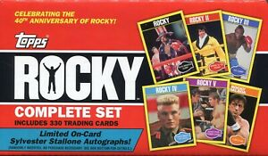 Topps Rocky The Complete Set 330 Cards In Collectors Box