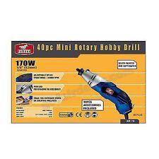 40 PC 170w Mains Power Mini Rotary Hobby Tool Kit Variable Speed Upto 35000 RPM