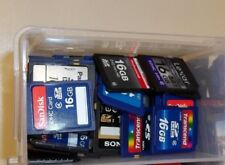Lot of (10) 16GB SD SDHC memory cards mixed brand