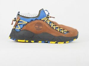Mens Timberland Ripcord Bungee A1UMC Brown Blue Leather Textile Casual Shoes