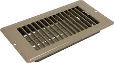 "Mobile Home RV 4""x10"" Brown Metal Floor Register Vent Air Diffuser RLS2410"