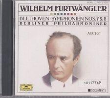 LUDWIG VAN BEETHOVEN - Symphonies 7 & 8 CD