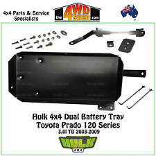 Hulk 4x4 Dual Battery Tray suits Toyota Prado 120 Series 3.0l 2003-2009