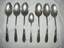 Wm Rogers Mfg Co I S Silverware-6 Soup or Serving Spoons and 1 Teaspoon