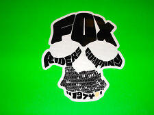 FOX  RACING MOTOCROSS QUAD BMX SKATEBOARD BLACK FOX RIDERS 1974 STICKER DECAL
