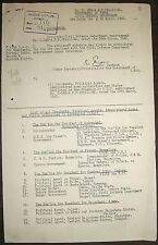 India 1942 doc containing a list of all Residents & Political Agents