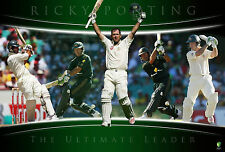 AUSTRALIA CRICKET RICKY PONTING THE RUN MACHINE LIMITED EDITION LICENSED PRINT