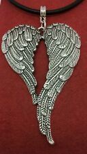 Angel Wings Necklace Leather 22inch large Pendant wing