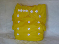 Brand NEW Cloth Pocket Diaper Microfiber Insert Canary Yellow Boy/Girl EB2610