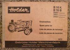 Holder remorqueur b16k + b16b pièce de rechange liste
