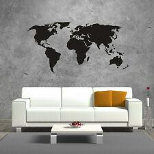 Wandtattoo Weltkarte World Map Welt Karte Aufkleber Wall Art Wand Tattoo #2001