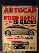 AUTOCAR Magazine 19th August 2003 Ford Capri is back!
