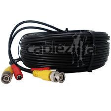 Security Camera Black Video Power Cable Siamese Pre-Made CCTV DVR BNC RCA 75FT