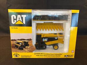 CAT CATERPILLAR LEXION 485 COMBINE W/CORN & GRAIN HEAD #55028 Norscot 1999