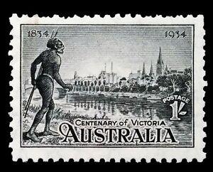 SG149 - 1934 Australia Black 1/- Shilling MNH Stamp - CV $110 - 47a