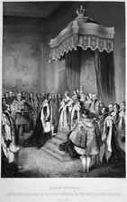 QUEEN VICTORIA EMPEROR NAPOLEON III ORDER GARTER ~ 1860 Art Print Engraving RARE