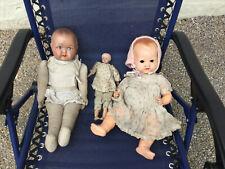 3 x Antique Dolls No Reserve