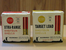Vintage Old Shotgun Shell Boxes Sears Roebuck & Co., 16 ga. & 20 ga., EMPTY BOX!