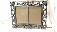 Silver Decorative Metal Duo Tabletop Photo Frame