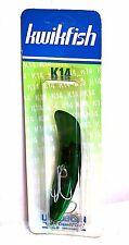 "Luhr-Jensen K14 Kwikfish Length 4-1/4"" Metallic Dark Green"