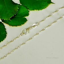 "22"" Silver Plated Singapore Chain with Lobster Clasp (Width 1mm)"