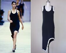 ** COMME DES GARCONS  ** Rare! Vintage 1992 Runway Painted Edge Cutaway Dress S