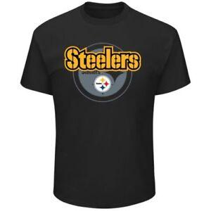 NFL Pittsburgh Steelers Men's Pick Six T-Shirt - Black Medium NEW WITH TAGS B17