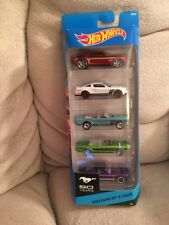 Hot Wheels Ford Mustang 50th 5-Pack 2010 GT 63 II Concept 65 69 Fastback 2013