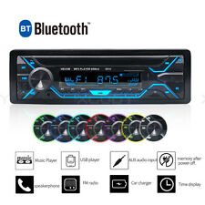 Single 1 DIN Multimedia Car Stereo MP3 Player Bluetooth FM TF USB AUX Handsfree