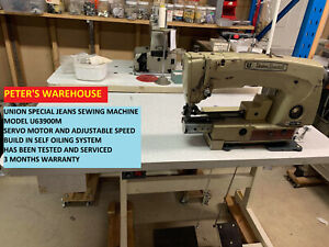 INDUSTRIAL JEAN SEWING MACHINE UNION SPECIAL U63900M SERVOMOTOR