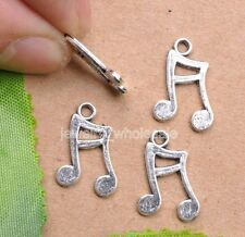 20pcs Tibetan Silver Charms Musical Note Pendant 16x10mm