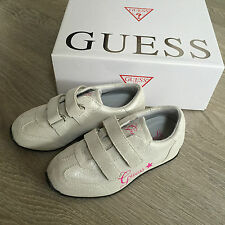 BNIB Gorgeous GUESS Leather Trainers UK 12 Eu 30 & Designer items 100% Genuine