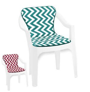 Kissen Stuhl Sessel Garten Zig Zag Gestreift Soft Stuhl-Abdeckungen BAR Dehor