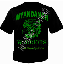 WYANDANCH WARRIOR GEAR HIGH QUALITY TEE SHIRTS ~ BLACK & GREEN